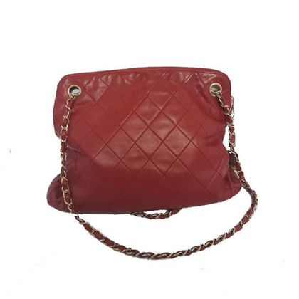 Chanel Quilted Leather Red Vintage Shoulder Bag