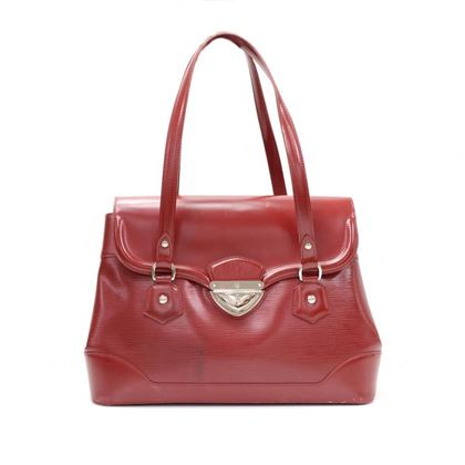 Louis Vuitton Bagatelle GM Red Epi Leather Shoulder Bag
