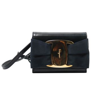 Salvatore Ferragamo Oversized Vara Ribbon Black Mini Shoulder Bag