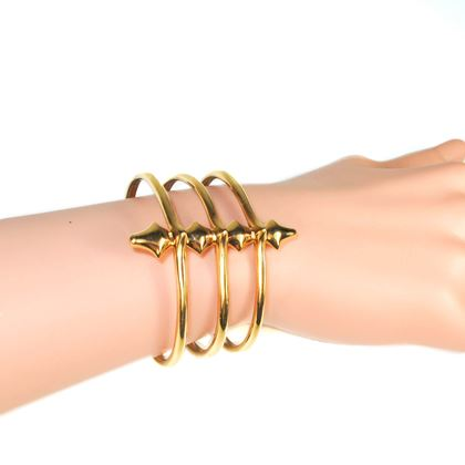Jennifer Fisher Gold Cage Spiked Cuff Bangle