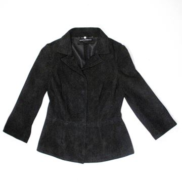 Dolce & Gabbana Black Suede Leather Jacket