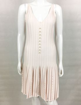 Chanel Ribbed Summer Pale Pink Vintage Dress