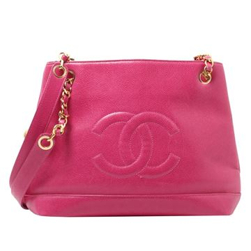 Chanel Caviar Leather Bright Pink Tote Bag