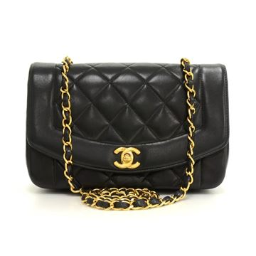 chanel-9-diana-classic-black-quilted-leather-shoulder-flap-bag