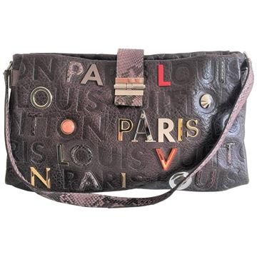 Louis Vuitton Limited edition Lutece Grey Shoulder Bag in Monograme Collage