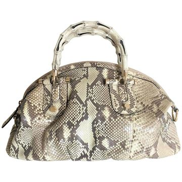 Gucci Bamboo Python Vintage Crossbody & Top Handle Bag