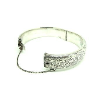 vintage-1972-sterling-silver-engraved-bangle-bracelet