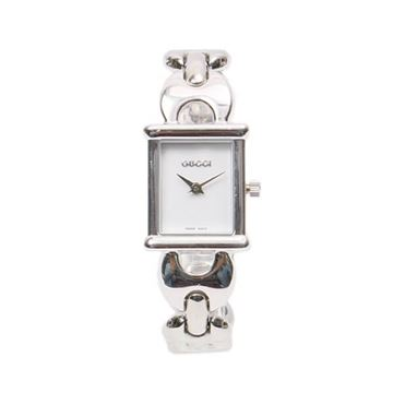 Gucci Silver Tone Chain Multiple Belt Watch