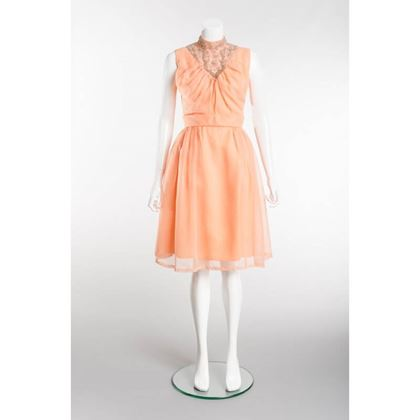 fabulous-vintage-1950s-peach-silver-prom-dress
