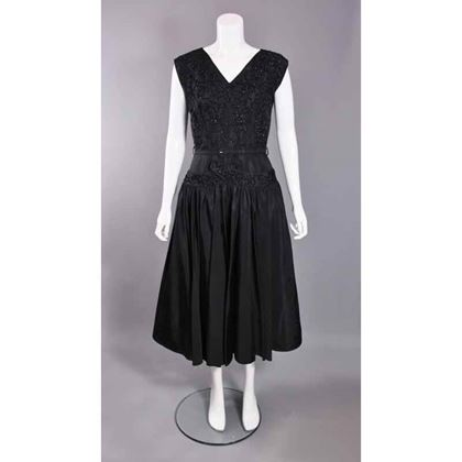 elegant-vintage-1950s-black-satin-beaded-dress-by-carnegie
