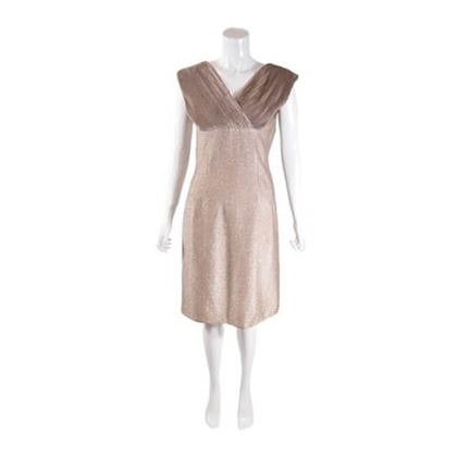 Vintage 1950s Blush Lurex Wiggle Dress