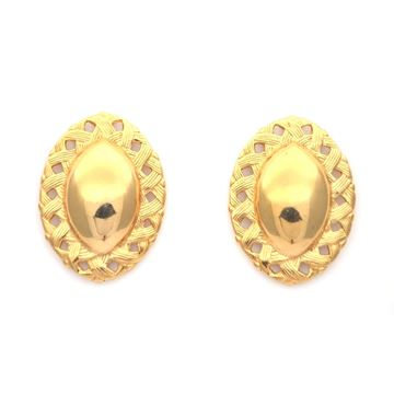Picture of Givenchy 1980's Oval Gold Tone Clip On Vintage Earrings