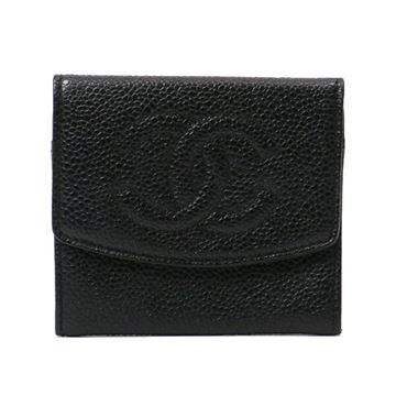 Chanel Caviar Leather Black Wallet