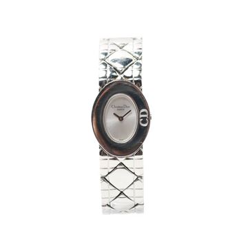 Dior Lady Dior Silver Logo Face Watch