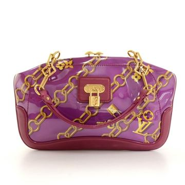 Louis Vuitton 2006 Charms Lines Vinyl & Purple Leather Limited Edition Top Handle Bag