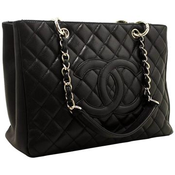 Chanel Caviar Leather Black Grand Shopping Tote Bag