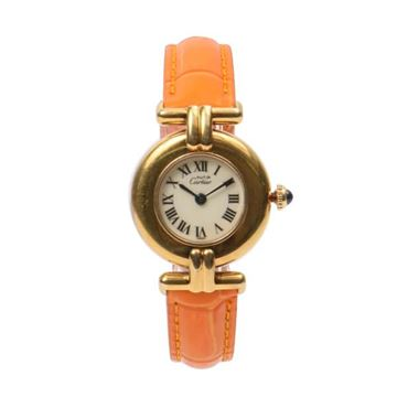 Must de Cartier Colisee Vermeil Change Strap Watch