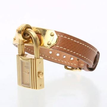 Hermes 1990s Brown Kelly Watch