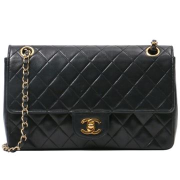 Chanel Quilted Lambskin Black Flap Bag