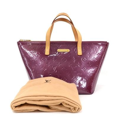 Louis Vuitton Bellevue PM Purple Violet Vernis Leather Hand Bag