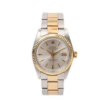 Rolex Oyster Perpetual Date Just Ref.1601 Rare Model in Yellow Gold