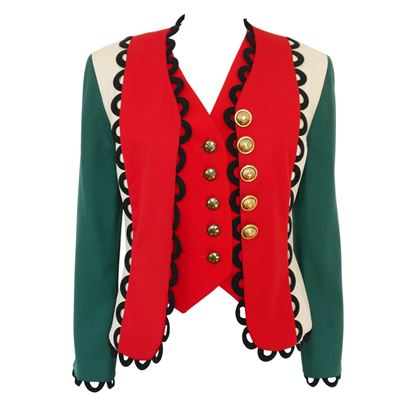 Moschino 1990s Italian Flag Vintage Jacket and Waistcoat Set
