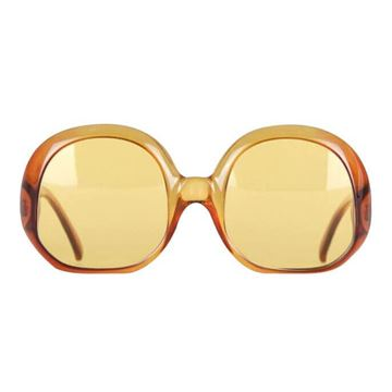 Picture of Christian Dior 1970s Oversized Orange Red Ombre Vintage Sunglasses