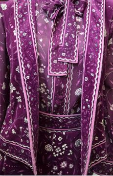 Emilio Pucci 1970s Three Piece Purple Velvet Vintage Ensemble