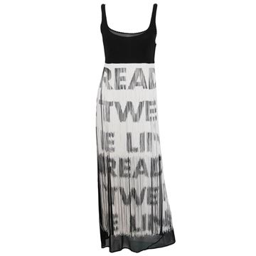 "MOSCHINO ""Read Between The Lines"" Fringe Dress Size S"