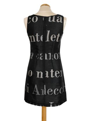 "Moschino 1990s ""Filosofia"" Black Vintage Shift Dress"