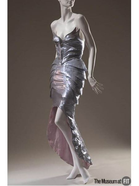 Thierry Mugler 1980s Couture Beaded Metallic Silver Vintage Bustier Top