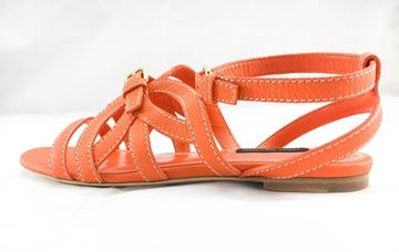 louis-vuitton-orange-leather-flat-sandals