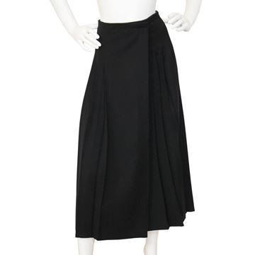Jean Paul Gaultier pour GIBO 1980s Asymmetrical Wrap Black Skirt