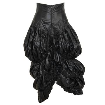 Norma Kamali 1980s to 1990s Black Parachute Skirt