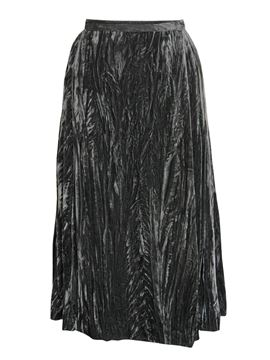 Yves Saint Laurent 1970s Velvet Grey Evening Skirt
