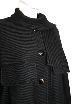 Valentino 1970s Black Balloon Coat