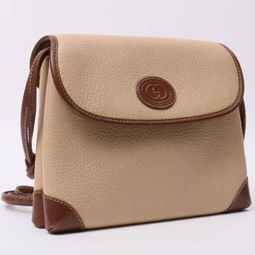 Gucci Beige Monogram Embossed Mini Handbag