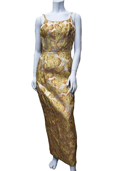 Picture of Mr Blackwell 1960s Gold Brocade Evening Dress and Coat