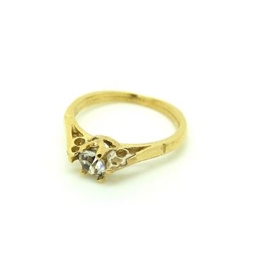 Vintage 1960s Promise Ring Charm Gold Necklace