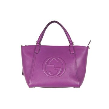 Gucci Purple Leather Soho Tote Handbag