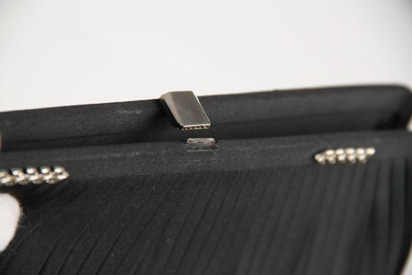 Gucci Rare Vintage Black Satin Clutch Bag