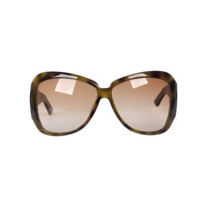 Gucci Mod. 2931 Tortoise Green Oversized Sunglasses