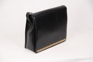 Gucci Black Leather Full Flap Handbag