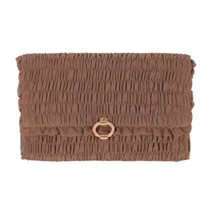 Gucci Vintage Brown Smocked Clutch Bag