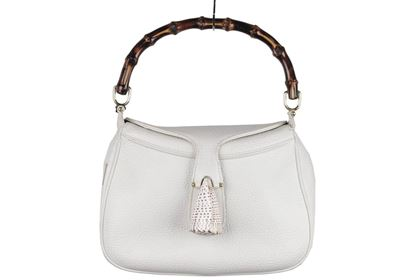 Gucci White Leather Sea Shell Handbag