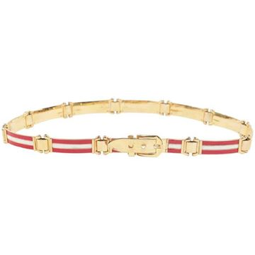 Gucci White & Red Enamel Belt
