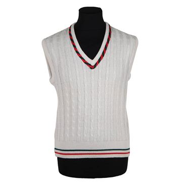 Gucci 1980s White Wool Blend Sleeveless Jumper