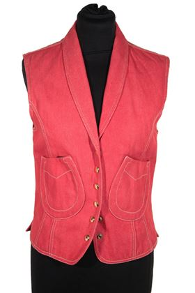 hermes-paris-red-denim-horseshoe-vest-gilet-waistcoat-size-38-fr-rare-as-8