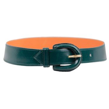 Hermes Green Leather Belt