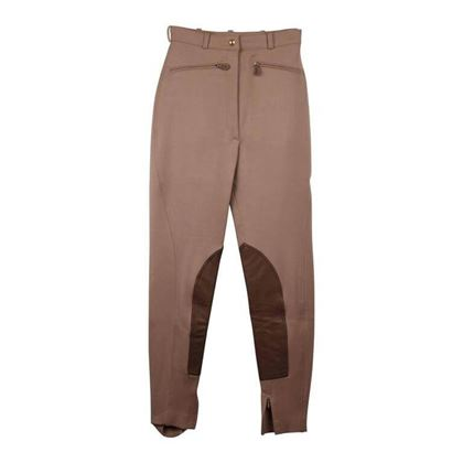 Hermes Tan Wool Equestrian Riding Trousers